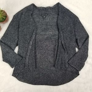 Eileen Fisher grey knit open front sweater small